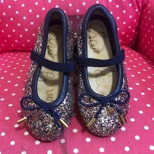 Toddler girl sam Edelman glitter cute shoes size 7